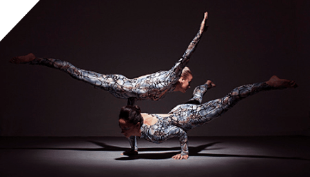Lisa Whitmore and Sally Miller as Kurve, Duo Contortion.